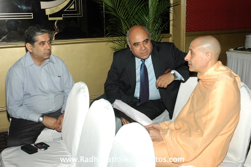Radhanath Swami with Hrishikesh Mafatlal