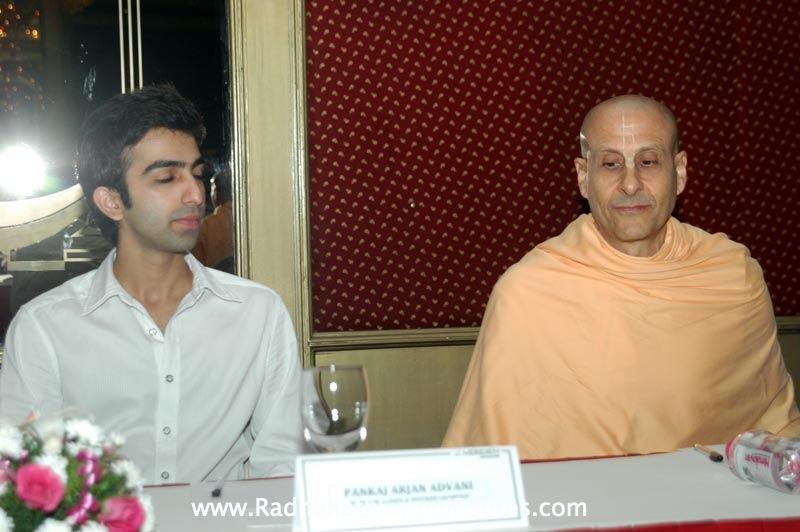 Radhanath Swami and Pankaj Advani