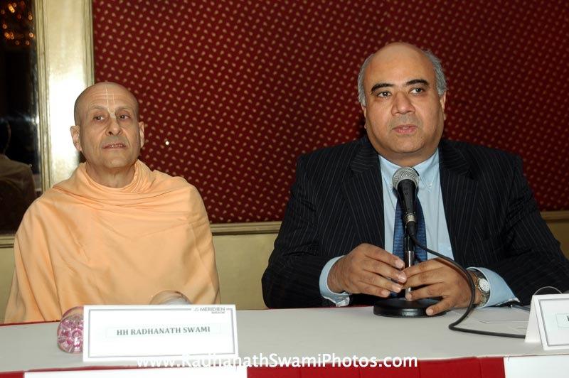 Radhanath Swami and Hrishikesh Mafatlal