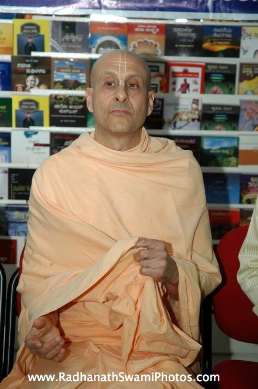 Radhanath Swami in Swapna Book House
