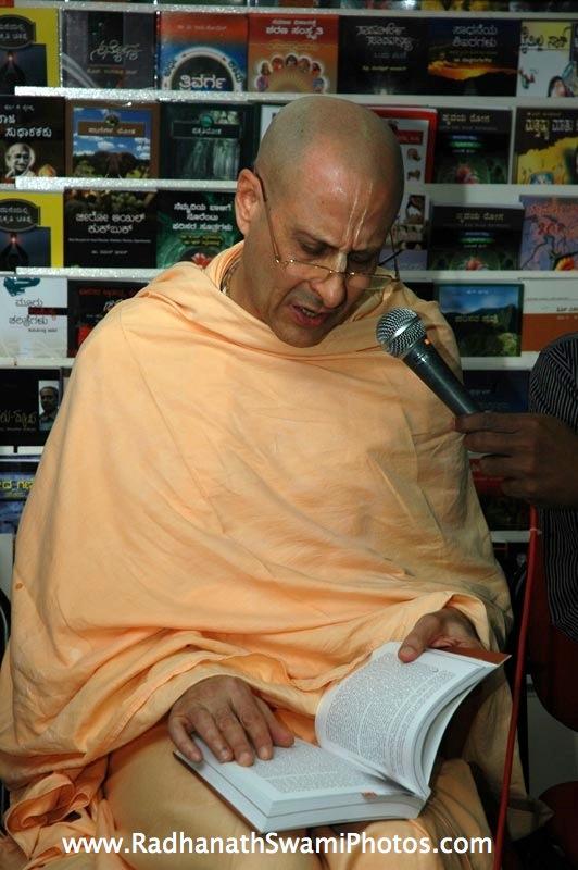 Talk by HH Radhanath Swami at Swapna Book Store