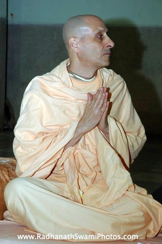 Radhanath Swami Praying to the Lord