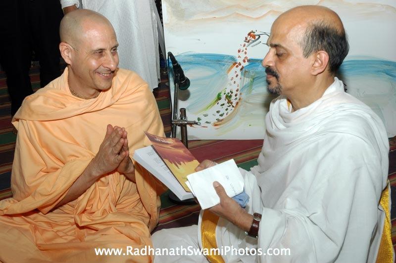 Radhanath Swami with devotee