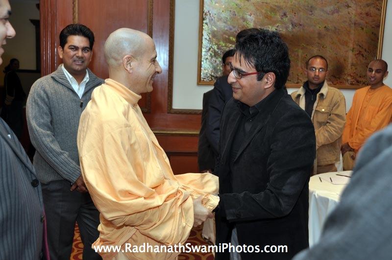 Radhanath Swami at Bangalore Book Launch