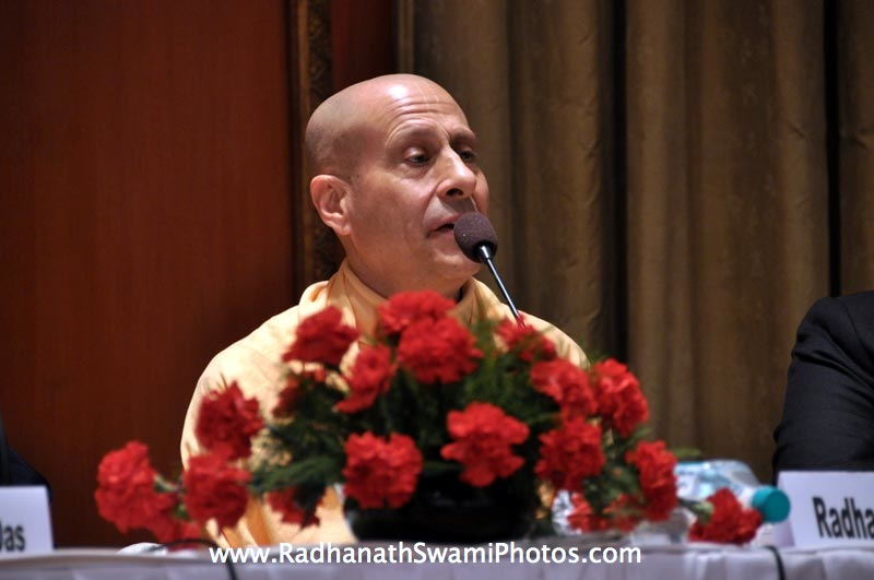 Talk by HH Radhanath Swami duing Book Launch