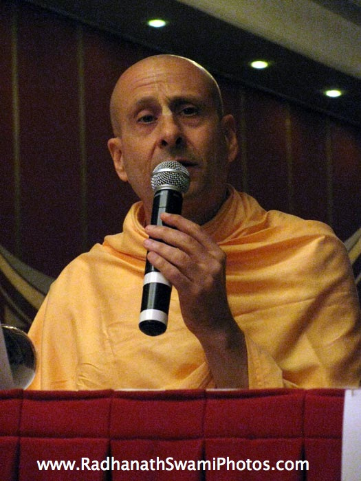 Radhanath Swami In Bangalore book Launch
