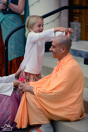 Radhanath Swami in New Dwarka