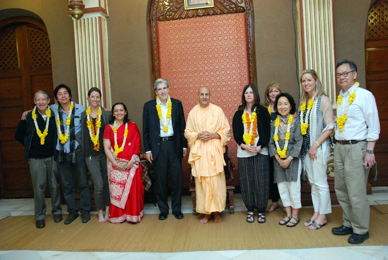 Radhanath Swami with Harvard University Students