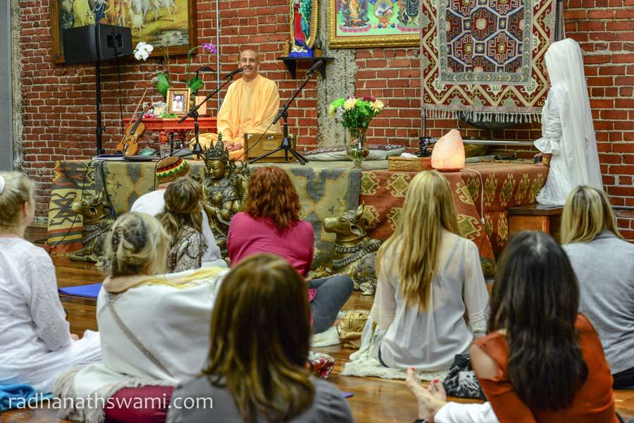 Talk by HH Radhanath Swami at Golden Bridge Yoga Center