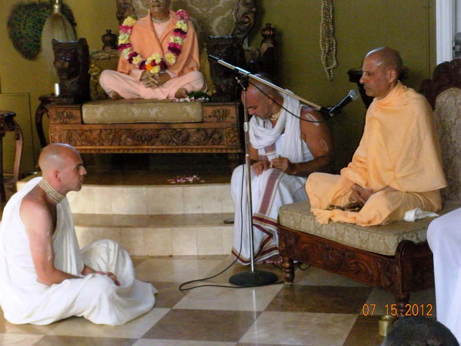Radhanath Swami Initiating a Devotee
