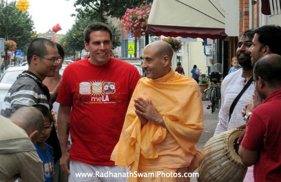 Radhanath Swami Maharaj in Holland