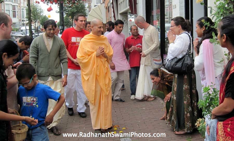 Radhanath Swami meeting Devotees in Holland