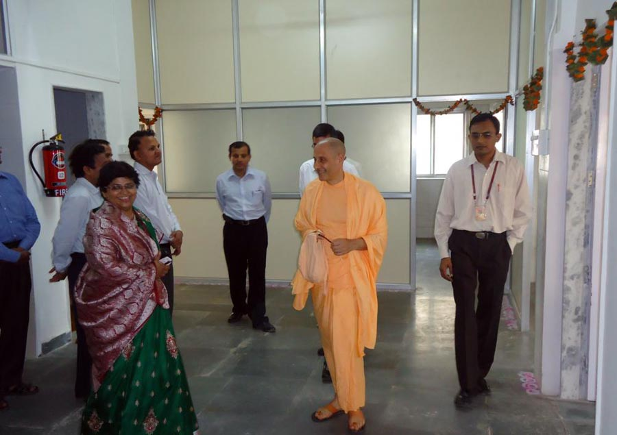 Radhanath Swami at PV Doshi Hospital, Mira Road