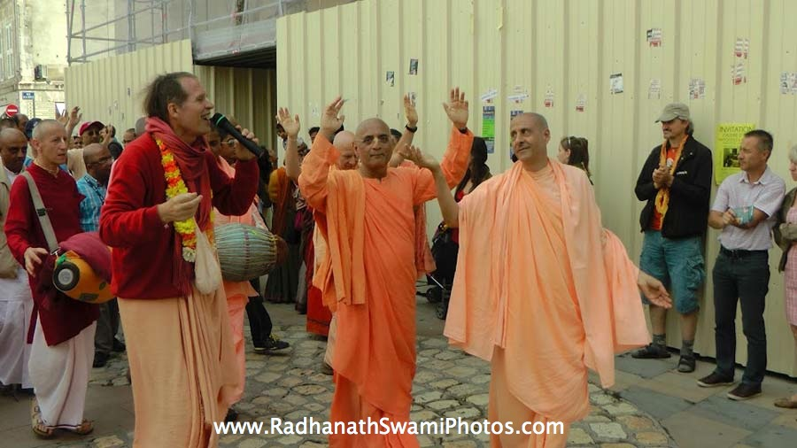 Harinaam Sankirtan during Spiritual Retreat
