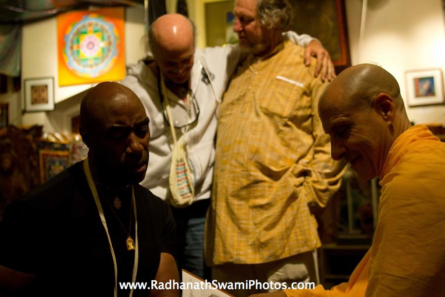 Swami Radhanath at Open Secret Book store