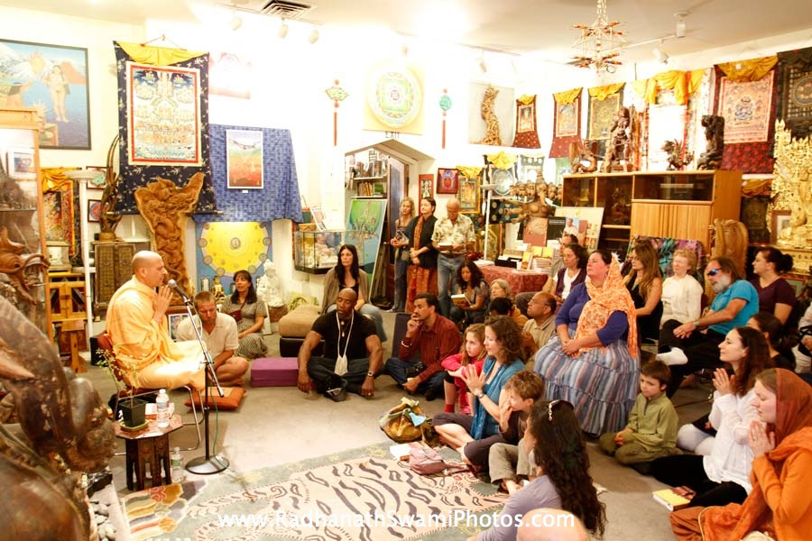 Talk by HH Radhanath Swami at Open Secret Book Store
