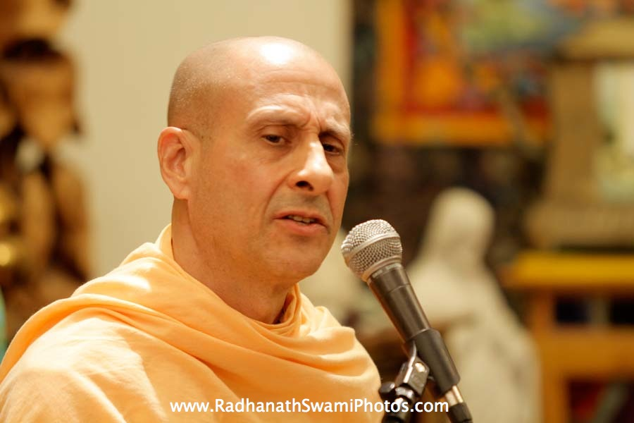 Radhanath Swami at Open Secret Book Store