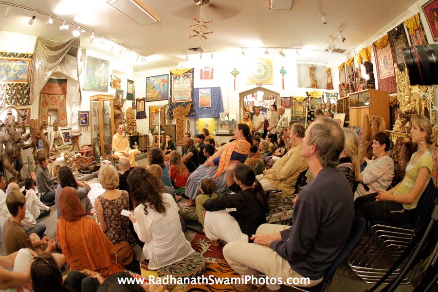 Talk by HH Radhanath Swami at Book Store in California