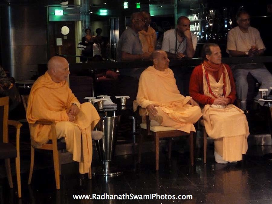 Chandramouli Swami, Radhanath Swami and Sacinandana Swami