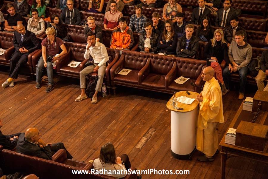 Radhanath Swami at Cambridge Union Society