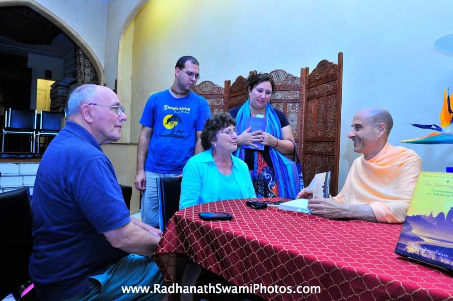 Book signing by Radhanath Swami at Bodhi tree