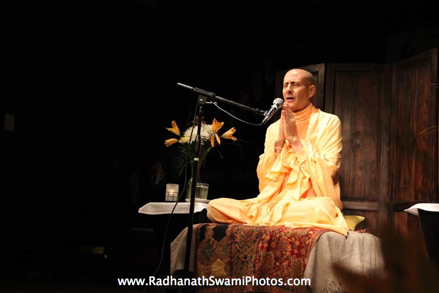 Talk by HH Radhanath Swami at Busboy & Poets Restaurant