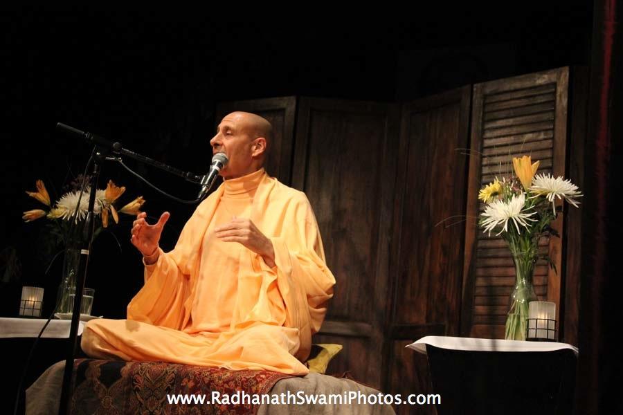Talk by HH Radhanath Swami at Busboy & Poets Restaurant