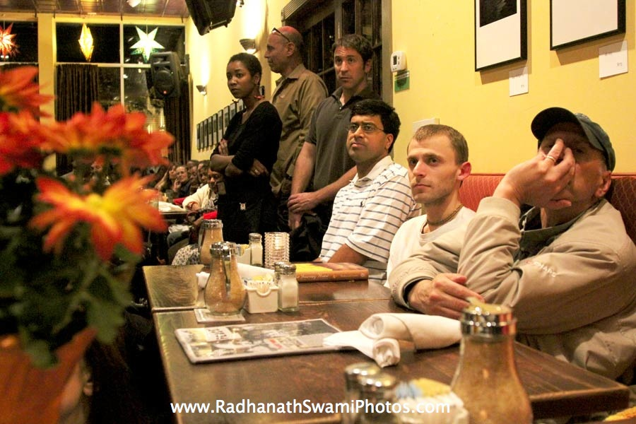 Guests at Busboys and Poets Restaurant