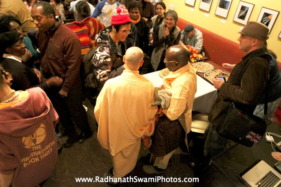 Radhanath Swami at Busboys & Poets Restaurant, Washington DC