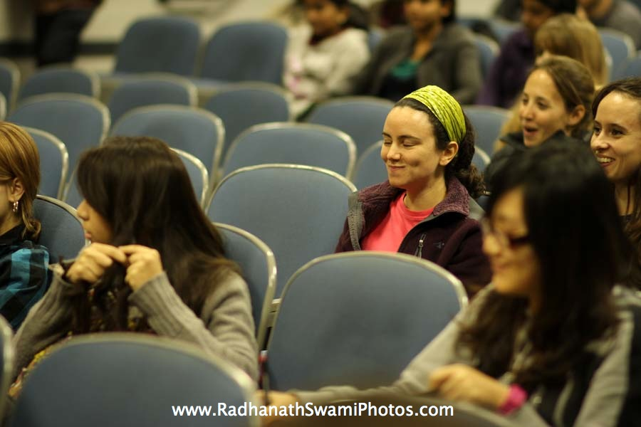 Radhanath Swami at Boston University Holistic Yoga Club
