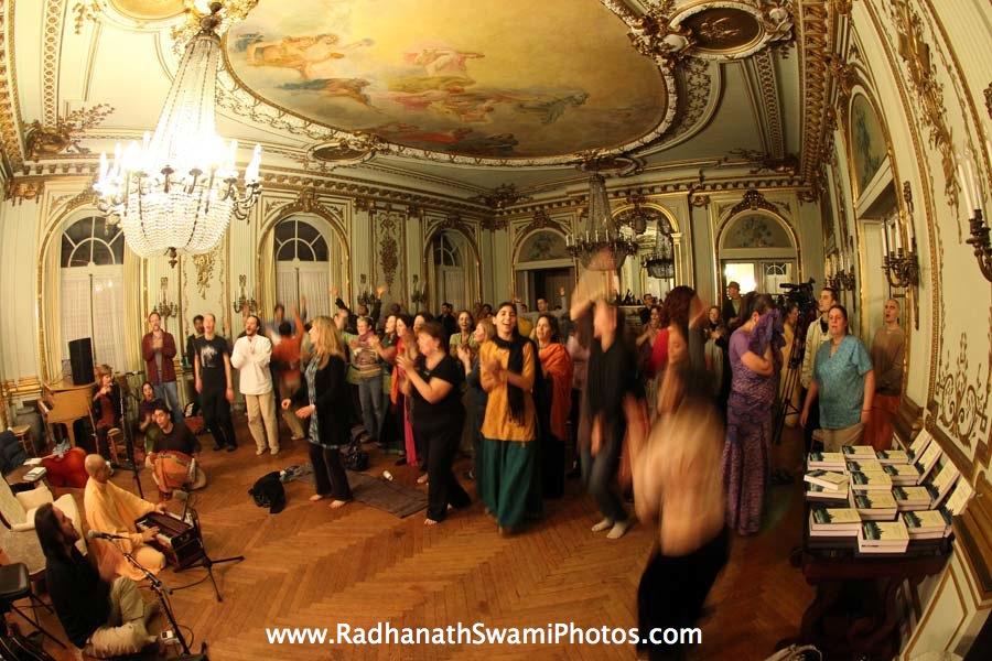 Devotees Dances for Kirtan by HH Radhanath Swami