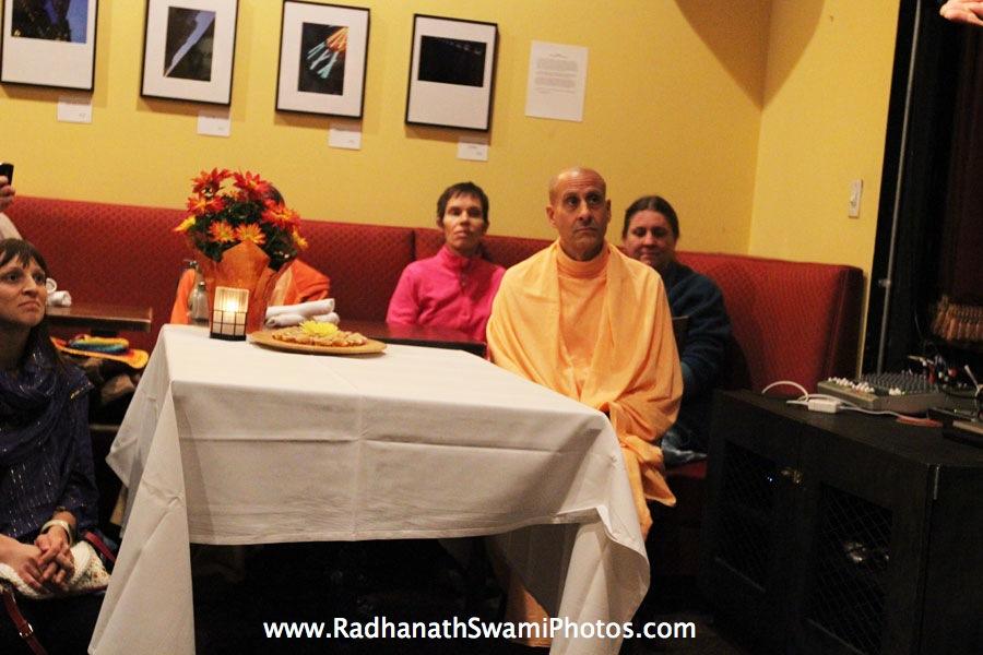 Radhanath Swami at Busboy & Poets Restaurant