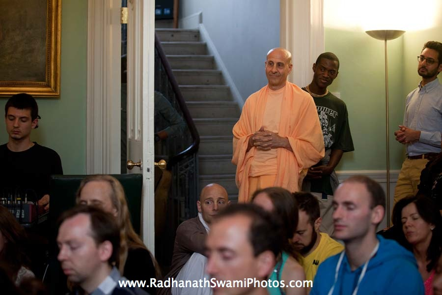 Radhanath Swami at Kirtan London Launch