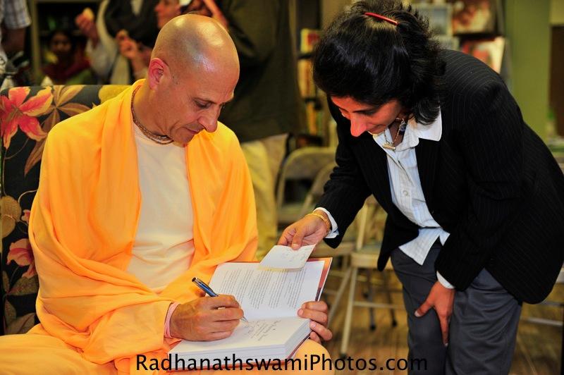 Radhanath Swami at Akashic Book Store, USA
