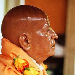 Deity of Srila Prabhupad at ISKCON Los Angeles