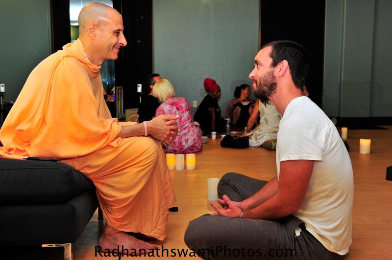 Radhanath Swami at Core Power Yoga Center