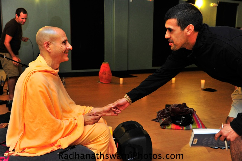 Radhanath Swami with Guest