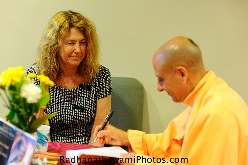 Swami Radhanath Signing his Book - The Journey Home
