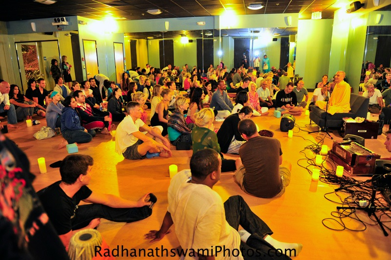 Talk by HH Radhanath Swami at Core Power Yoga, Los Angeles