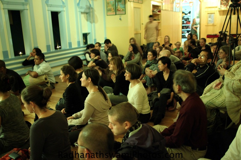 Guests at Broome Streets Temple, NYC