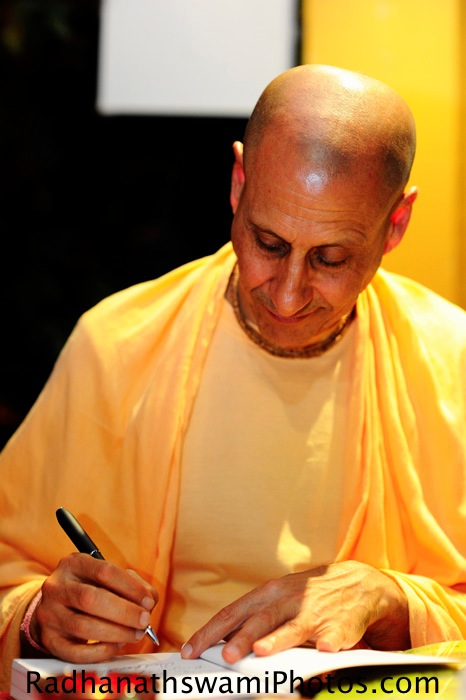 Radhanath Swamy Signing his Book - The Journey Home