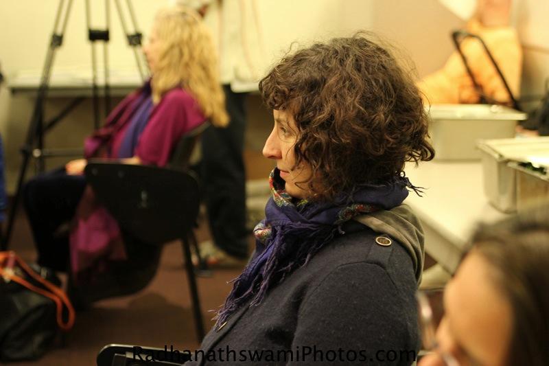 Students hearing Talk by Radhanatha Swami at New York University