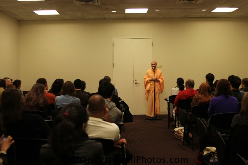 Talk By HH Radhanath Swami at Krishna-bhakti club, New York University