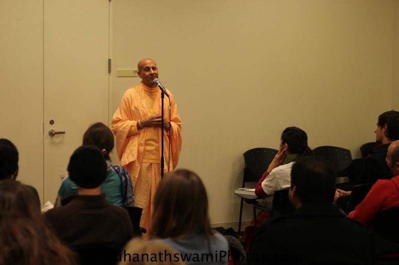 Talk By Swami Radhanath at New York University