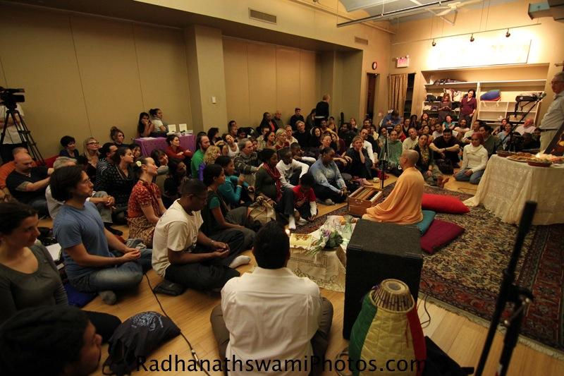 Talk by Radhanatha Swami at Jivamukti Yoga Studio