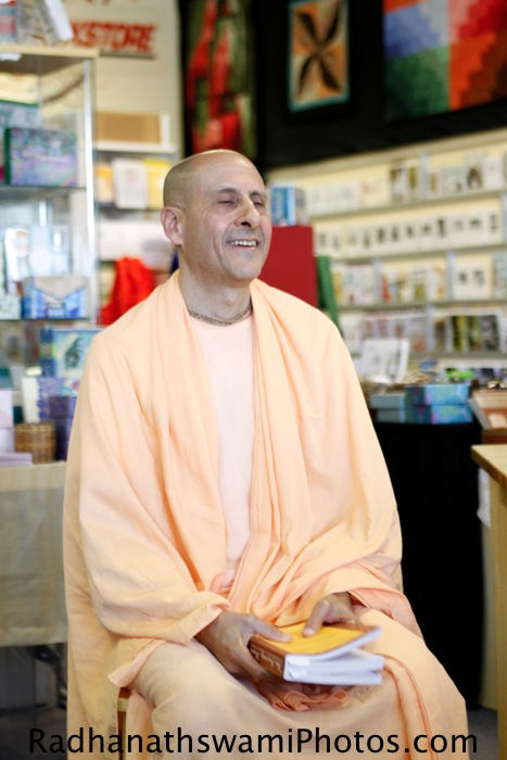 Radhanath Swami at Sundance Book Store
