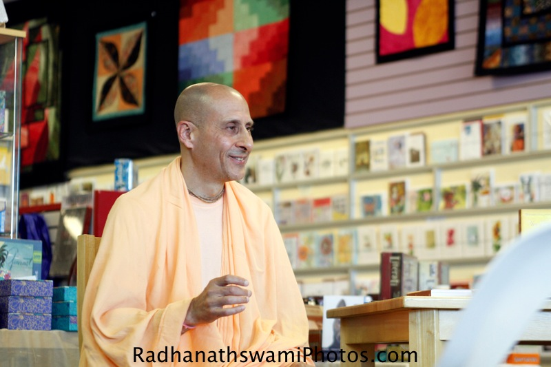 Radhanath Swami at Sundance Book Store