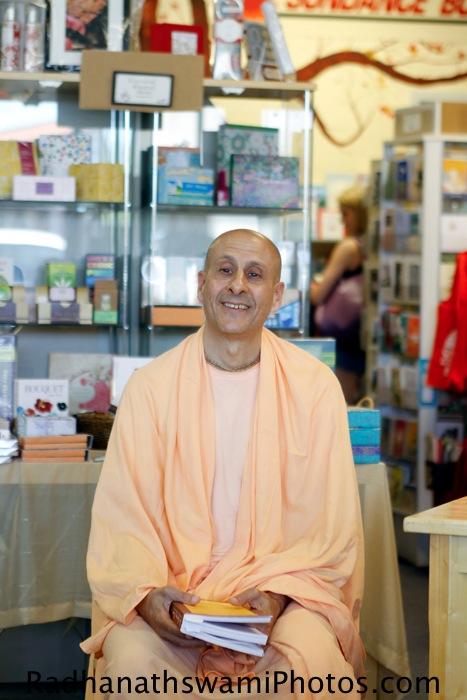 Radhanath Swami's Visit to Sundance book store, California