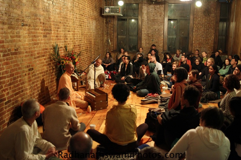 Talk by HH Radhanath Swami at Kula Yoga, New York
