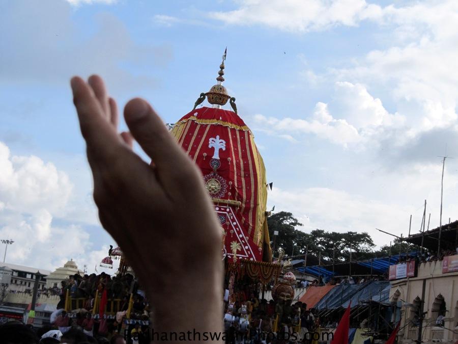 Radhanath Swami at Jagannath Rath yatra Puri